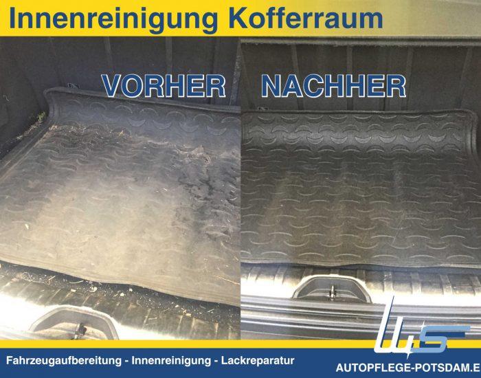 Autopflege-Potsdam Innenreinigung im Kofferraum VORHER und NACHER