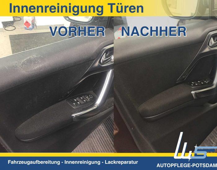 Autopflege-Potsdam Innenreinigung von Türverkleidungen VORHER und NACHER